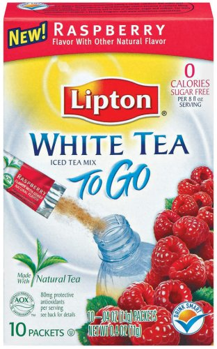 Buy Lipton White Tea Iced Tea Mix To-Go, Raspberry, 10-Count Boxes (Pack of 12) (Lipton, Health & Personal Care, Products, Food & Snacks, Beverages, Tea, White Teas)
