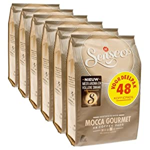 Get Senseo Mocca Gourmet, Design, Pack of 6, 6 x 48 Coffee Pods from Douwe Egberts
