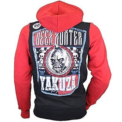 Yakuza Sweatshirt Herren Hoodie Deer Hunter HOB 629 schwarz rot