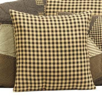 Farmhouse Black Check Plaid Pillow Cover 16