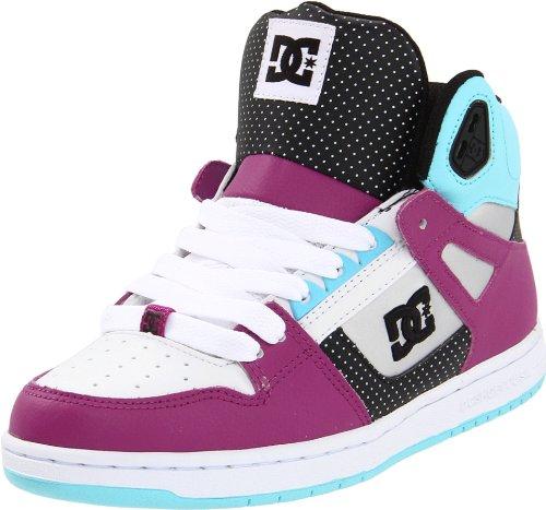 DC Women's Rebound Hi Ocean Blue/White Skate Shoes D0302164 3 UK, 36 EU, 5 US