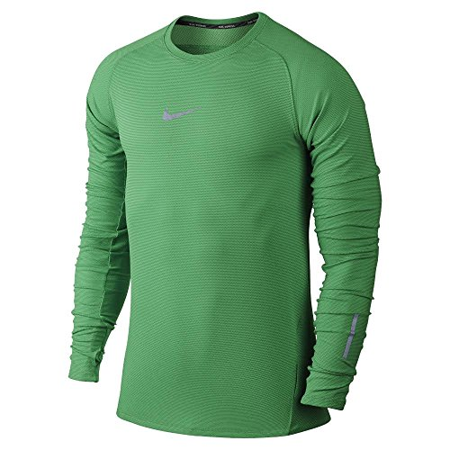 Nike Men's AeroReact Long Sleeve Running Top Medium Spring Leaf Green