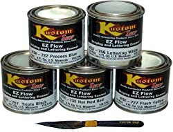 KUSTOMSHOP LETTERING ENAMEL/PINSTRIPE 5 PAINT COLORS