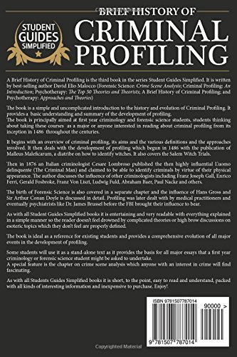 A Brief History of Criminal Profiling: Volume 3 (Student Guides Simplified)
