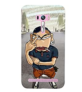 printtech Angry Boy Back Case Cover for Asus Zenfone Selfie::Asus Zenfone Selfie ZD551KL