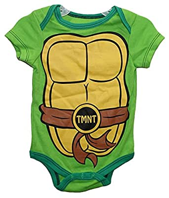 Nickelodeon TMNT Michelangelo Green Baby Bodysuit Dress Up Outfit
