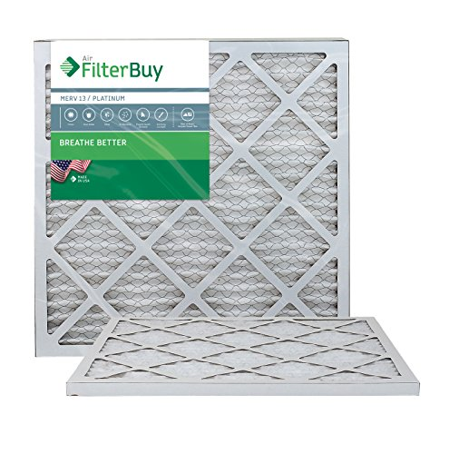AFB Platinum MERV 13 18x22x1 Pleated AC Furnace Air Filter. Pack of 2 Filters. 100% produced in the USA.