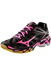 Mizuno Women's Wave Lightning RX3 Volleyball Shoes - Black & Pink