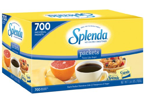 Splenda No Calorie Sweetener, Granular, Individual Packets, 700-Count Box