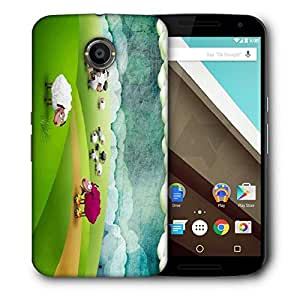 Snoogg Crazy Sheep Printed Protective Phone Back Case Cover For LG Google Nexus 6
