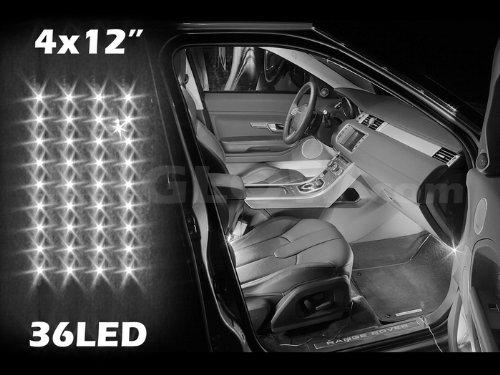 White 4Pcs 36 Led Waterproof Three Mode Neon Accent Light Kit For Car Interior Trunk Truck Bed Bush Fender