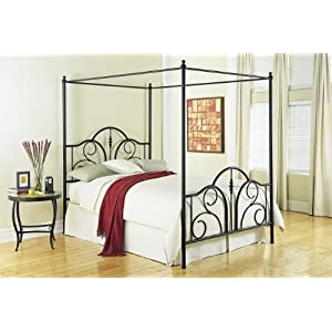 A Black Metal Canopy Bed is a Great Choice for Teens!