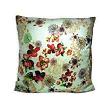 "The Bombay Store Cotton Cushion Cover - Floral Mix 3 L 16"" H 16"""
