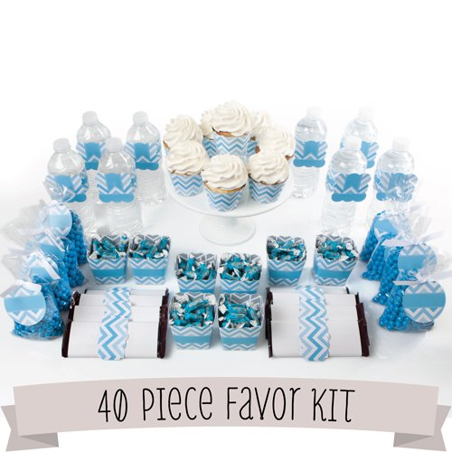 Chevron Blue - 40 Piece Party Kit - Do It Yourself front-145111