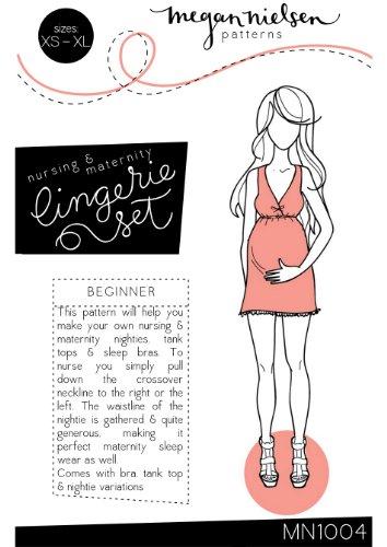 Megan Nielsen Nursing & Maternity Lingerie Set Sewing Pattern XS-XL