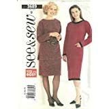 Misses Dress, Top and Skirt Butterick See & Sew Pattern 3689 (Size B: 14-16-18) ~ Butterick