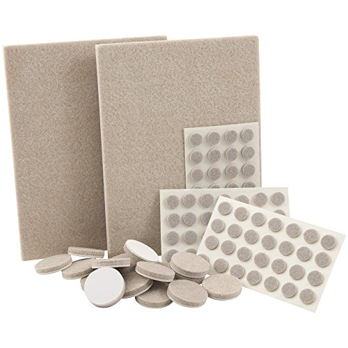 self-stick-heavy-duty-felt-pads-value-pack-assortment-for-hard-surfaces-102-pieces-oatmeal-assorted-