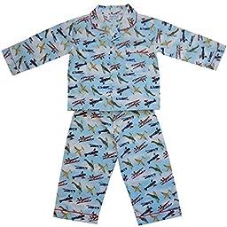 Powell Craft Big Boys\' Vintage Airplanes Pajamas.blue (1-2 years)
