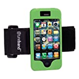 Tuneband for iPhone 4 and iPhone 4S Special Edition for Clinica Verde, Grantwood Technology's Armband, Silicone Skin, and Front and Back Screen Protector, Green