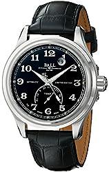 Ball Men's NT1050D-LJBKFBK Trainmaster Fahrenheit Analog Display Swiss Automatic Black Watch