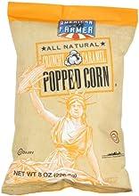 American Farmer Brand Kettle Popped Corn Crunchy Caramel  8 Ounce