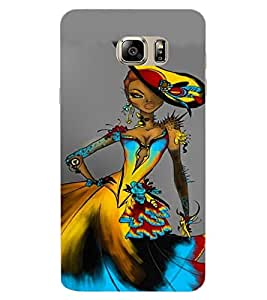 ColourCraft Stylish Girl Design Back Case Cover for SAMSUNG GALAXY NOTE 7 DUOS