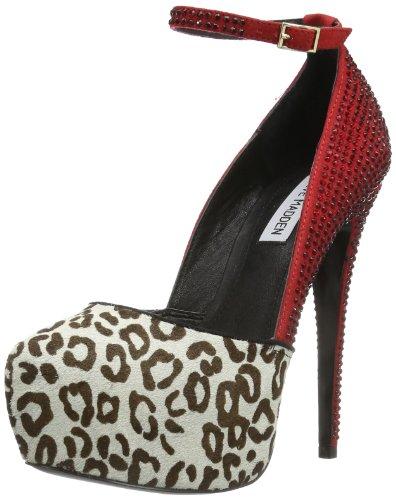 Steve Madden DEENY-R 01200651 - Zapatos de tacón para mujer, color rojo, talla 38