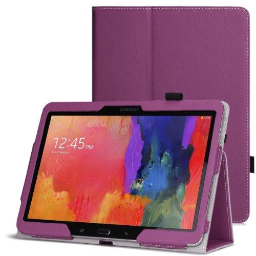 Wawo Samsung Galaxy Tab Pro 10.1 Inch Tablet Smart Cover Folio Case - Purple front-809219