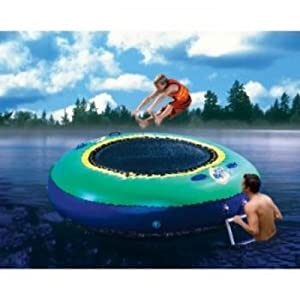 Buy Banzai Bounce Inflatable Water Or Land Trampoline Swimming Pool Lawn Outdoor by Banzai