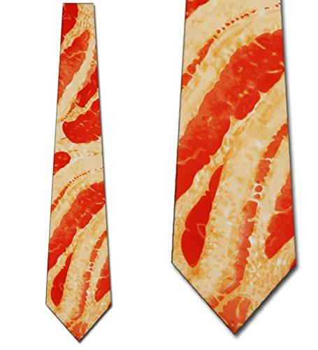 Bacon Tie Mens Meat Neckties by Ralph Marlin