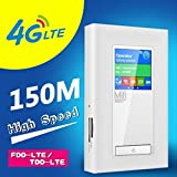 Unlocked 150Mbps 4G Mifi 5200mAh Power Bank Mobile Wifi Hotspot 3G/4G LTE Wifi Router with 2SIM Card Slot RJ45 LAN Support Up to 10 Users Access to WiFi