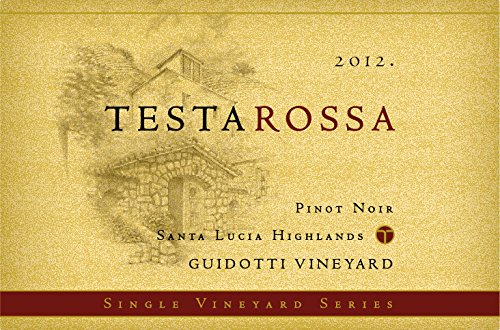 2012 Testarossa Winery Guidotti Vineyard, Santa Lucia Highlands Pinot Noir 750Ml