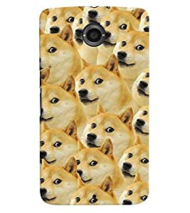 Printvisa Pattern Of A Group Of Dogs Back Case Cover for Motorola Google Nexus 6