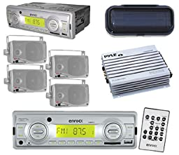 New Indash Outdoor Radio Player 4 Silver 3.5\