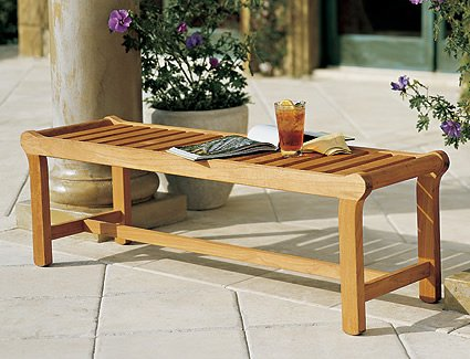 New Grade A Teak Wood Luxurious Outdoor Garden 55″ Revni Backless Bench