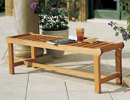 New Grade a Teak Wood Luxurious Outdoor Garden Backless Seat Bench (55″)