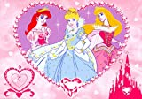 Disney Princess Jewels Rug - For Girls - 95cm x 133cm (3'2