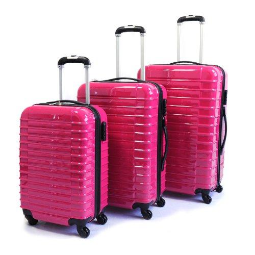 Viaggio Lightweight 3-teiliges Kofferset Rose