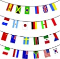 MEGA VALUE 24 x Participating Brazil Rio Nations Premium Quality Bunting Flags - Huge 10m Multi Nation Party Decoration Banner - My Swift Exclusive