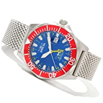 Mens Invicta Swiss Pro Diver Large Steel Gmt 30 Atm Date Watch 80276