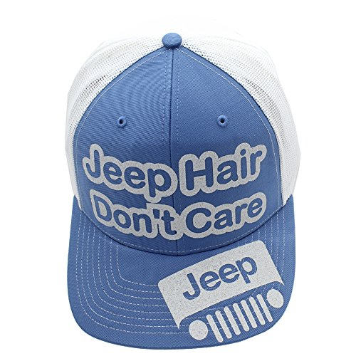 Jeep Hair Don't Care Glittering Trucker Style Cap