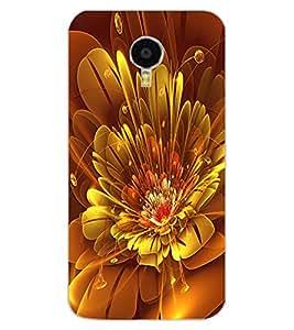 ColourCraft Digital Flower Design Back Case Cover for MEIZU M3 NOTE