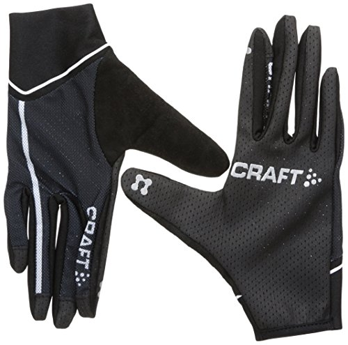 Craft Craft3 Acc Vélo Control-Guanti, unisex, Craft3 Acc Vélo Control, nero/bianco, XL