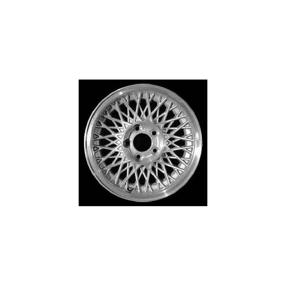 93 96 FORD CROWN VICTORIA ALLOY WHEEL RIM 15 INCH, Diameter 15, Width 6.5 (LACY SPOKE), 11.4mm offset, MACHINED LIP. BRIGHT SILVER FACE, 1 Piece Only, Remanufactured (1993 93 1994 94 1995 95 1996 96)