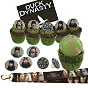 1 Lanyard & 24 Cupcake Rings & 24 Camo Baking Cups -Duck Dynasty Birthday Party Favors