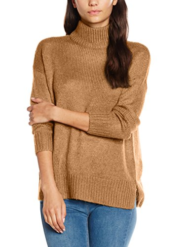 new-look-stand-neck-pull-femme-beige-camel-s
