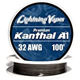 Kanthal 32 AWG Gauge A1 Wire 100' Roll .20mm , 13.75 Ohms/ft Resistance