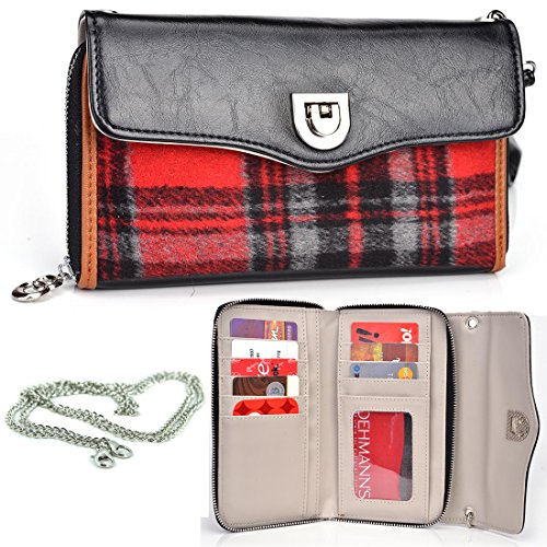 Click to buy Kroo Splash Wallet Crossbody Merry Plaid (Red/Black) Universal fit for Cubot GT99, Dell Streak Pro D43, Icemobile Prime 5.0 Plus, 4.5, 4.0 Plus Phone | Case - From only $21.99