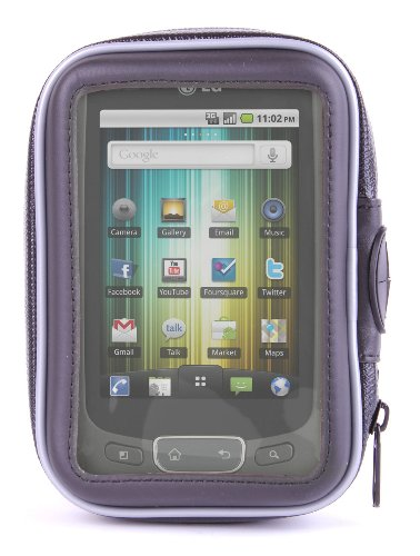 Rugged Splash Proof Phone Pouch With Mountain Bike Mount For LG Optimus One And 2X P990 By DURAGADGET