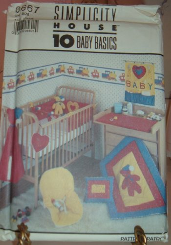 Simplicity Craft Pattern 8667 10 Piece Nursery Accessories Coverlet Pillow Crib Toy front-261806